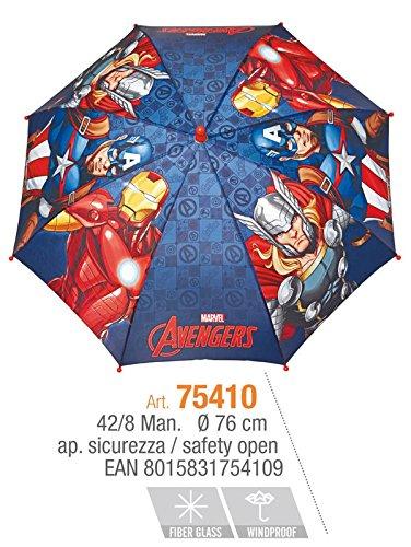 PERLETTI perletti7541042x 8cm Boy Avengers 2Bedruckte Sicherheit offen Winddicht Regenschirm