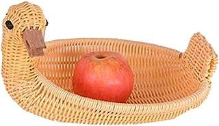 Plaque imitation rotin Fruit Basket Creative canard légumes panier Salon fruits secs AOIWE (Size : 28 * 21 * 6cm)