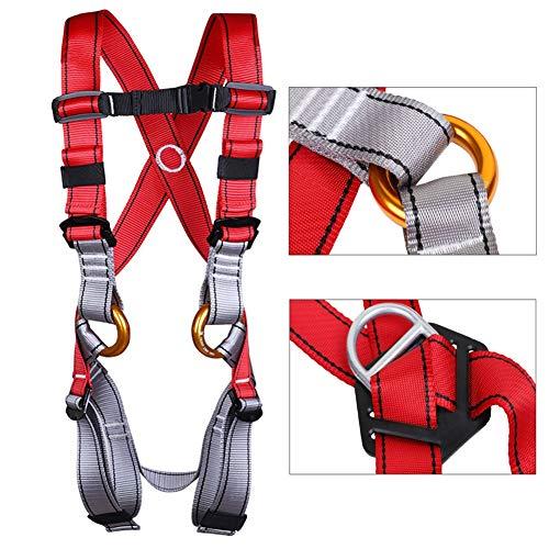 MAHFEI veiligheidsharnas, kinderklimtuig, valbescherming, verstelbaar voor attractiepark rotsklimmen expeditie uitgebreide training bergbeklimmen