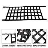 YaeMarine Black Heavy Duty Cargo Net Cover for 2007-2019 Jeep Wrangler JK TJ JL Multi-Functional Top Roof Storage Hammock Bed Rest Network Cover