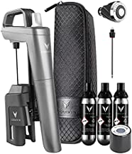 Coravin Model Five Plus Pack Ñ Wine Preservation System Ñ Bottle Opener, Needle Pourer, Aerator, and Wine Saver Ñ Includes 3 Argon Gas Capsules, Fast Pour Wine Needle, Screw Top, and Carry Case