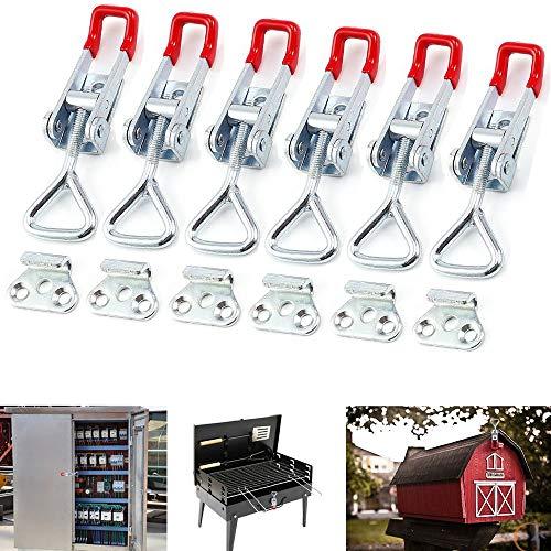 Kniehebelspanner 6 stück Hebel Verschluss Spannverschluss Quick Fixture Schnalle mit verstellbarer Schnalle für Schrank, Tür, Box, Fall ohne Sperre oder gebrochenen Griff tolles Gadget