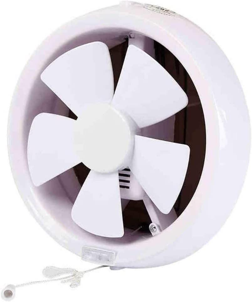 DYXYH Lámpara de Cocina de baño Redonda.Tubo de Pared de Vidrio Negro Tipo Ventilador de ventilación Extractor de baño de 8 Pulgadas