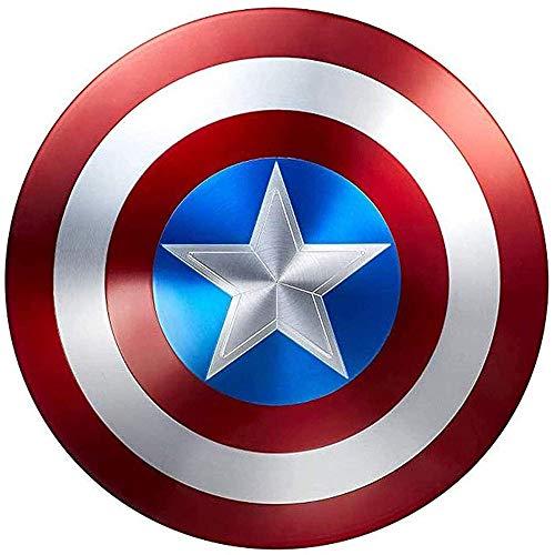 COKECO Scudo di Capitan America all Metal 1 A 1 47.5cm Avengers Scudi Marvel Prop Supereroe Capitan America Scudo per 75° Anniversario Decorazione Bar per Giochi Ruolo per Adulti/Bambini