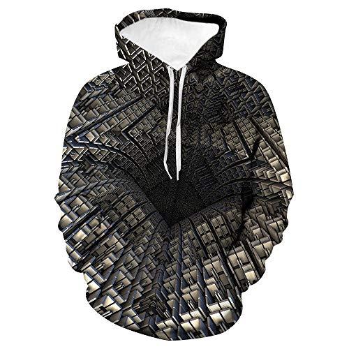 x8jdieu3 Herbst und Winter kreative Bunte Strudel 3D Digitaldruck Paar Flut Marke Kapuze Kordelzug 3D Pullover Sweatshirt