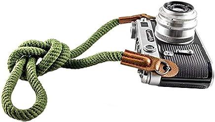 カメラストラップ カメラストラップ 一眼レフカメラ用 取り外し ソフトコットン ネック ストラップ カメラショルダー ストラップ ベルト ライカ/キヤノン/ニコン/富士/オリンパス/ルミックス/ソニーなど対 (Color : G)
