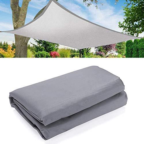 Jtoony Toldo para exteriores, resistente al agua, a prueba de rayos UV, toldo para toldo (tamaño: L; color: gris)