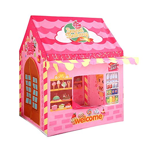YIJIAHUI Kids Play Tent Princess Sales House Tent Play House Children's Play House Indoor Tent Kids Foldable Play Tent for Indoor Outdoor (Color : Pink, Size : 100x86x128cm)