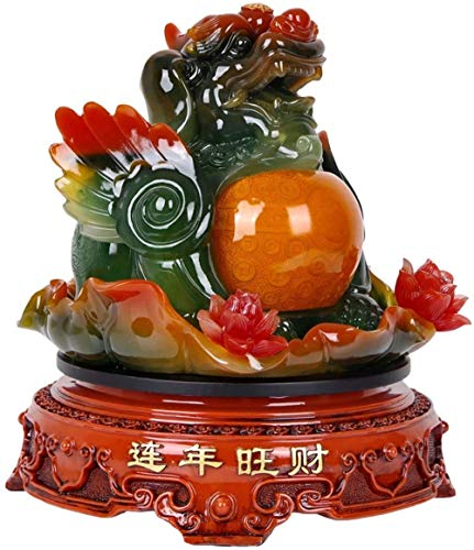 Statues,Retro Style Rotatable Lucky P Ornaments to Ward Off Evil Spirits and Feng Shui P Ornaments Living Room Office Desktop Decorations Opening Gifts Creative Figurine Sculptures