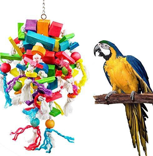Wonninek Juguetes para Loros Grandes Juguetes para Masticar Naturales para pájaros Grandes Recomendado para Gris Africano y una Variedad de Loros Grandes del Amazonas