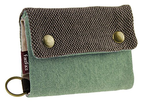 LY Liying Neu Geldbeutel Geldbörse Portemonnaie mit Geldklammer,Canvas Herren-Portmonee,Herrenbörse,Kreditkartenetui,Brieftasche,Geldtasche mit RFID-Blocker