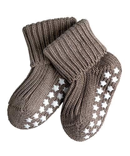 FALKE Baby Socken Catspads Cotton, 1 Paar, Braun (Pebble 5810), 74-80