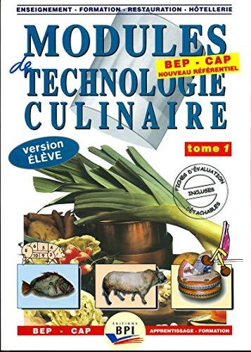 Modules de technologie culinaire BEP CAP Apprentissage-Formation