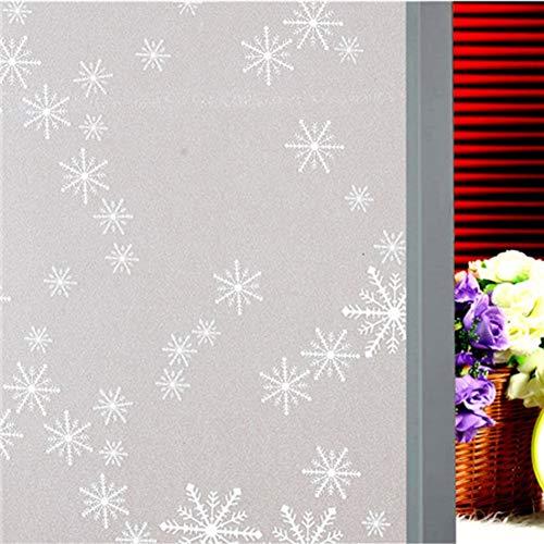 Emmala raamfolie voor statische elektriciteit zonder lijm warmte-isolatie unieke bescherming voor ramen en ramen hygiënische diensten licht voor de badkamer A 40 x 100 cm (16X39 Pollizi)