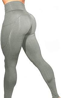 Women's Workout Leggings High Waist Out Pocket Yoga Pants 4 Way Stretch