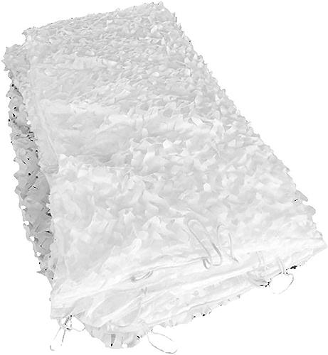 Hiver neige blanche camouflage défense aérienne nette sur le terrain en plein air entraîneHommest militaire ceinture de prougeection de ceinture blanche pure, écran solaire, feuille de bache de prougeection