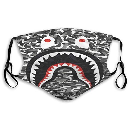 Mundschutz Gesichtssch Su-preme Ba-pe Shark Dust Mund-Muffel mit Filter, atmungsaktive staubdichte Außengesichtsabdeckung, ohrgehangene Abdeckung
