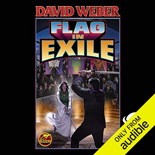 Flag in Exile     Honor Harrington, Book 5              Written by:                                                                                                                                 David Weber                               Narrated by:                                                                                                                                 Allyson Johnson                      Length: 16 hrs and 52 mins     6 ratings     Overall 4.5