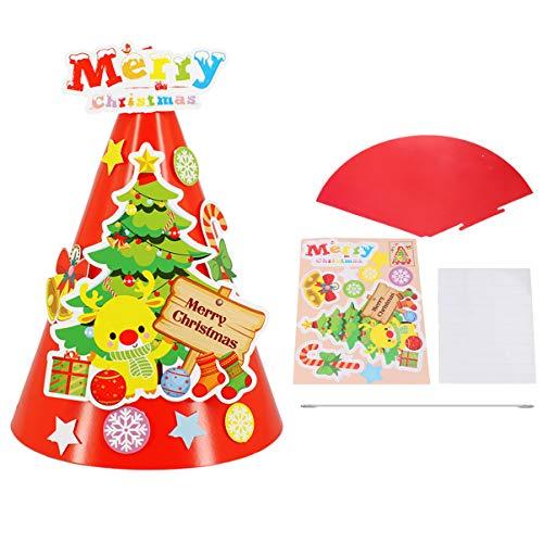 NUOBESTY 6Pcs DIY Weihnachtsbaumhut Basteln Lustige Weihnachtsfeierhutweihnachtskostümzubehör