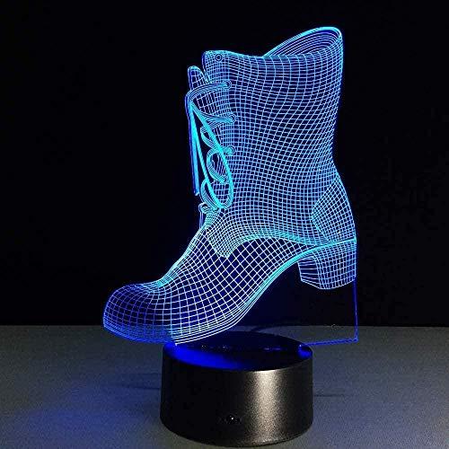 Boutiquespace Lámpara creativa 3D de noche de RinocerosKindLED al lado de la lámpara de mesa 7 colores táctil interruptor USB carga acrílico plana mejor para decoración de regalo de cumpleaños-Gs762