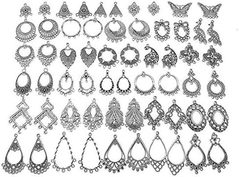 Kinteshun Filigree Chandelier Earring Loops Connectors Eardrop Necklace Linker Dangling Charm product image