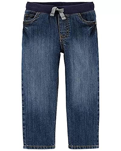 Carter's Boys Pull-On Reinforced Knee Pants (Denim Blue, 4T)