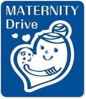 imoninn マタニティステッカー 【マグネットタイプ】 C:MATERNITY Drive (青色)