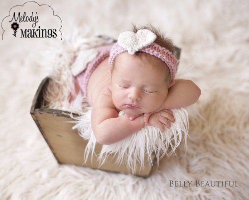 Sweetheart Diaper Cover and Headband Set Knitting P