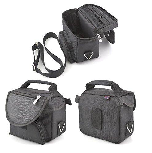 Digicharge Schwarze Reisetragetasche für Garmin Nuvi 2598LMT-D 2797LMT 2597LMT 2597LM Sat NAV GPS mit Tragegurt und Zubehörfach