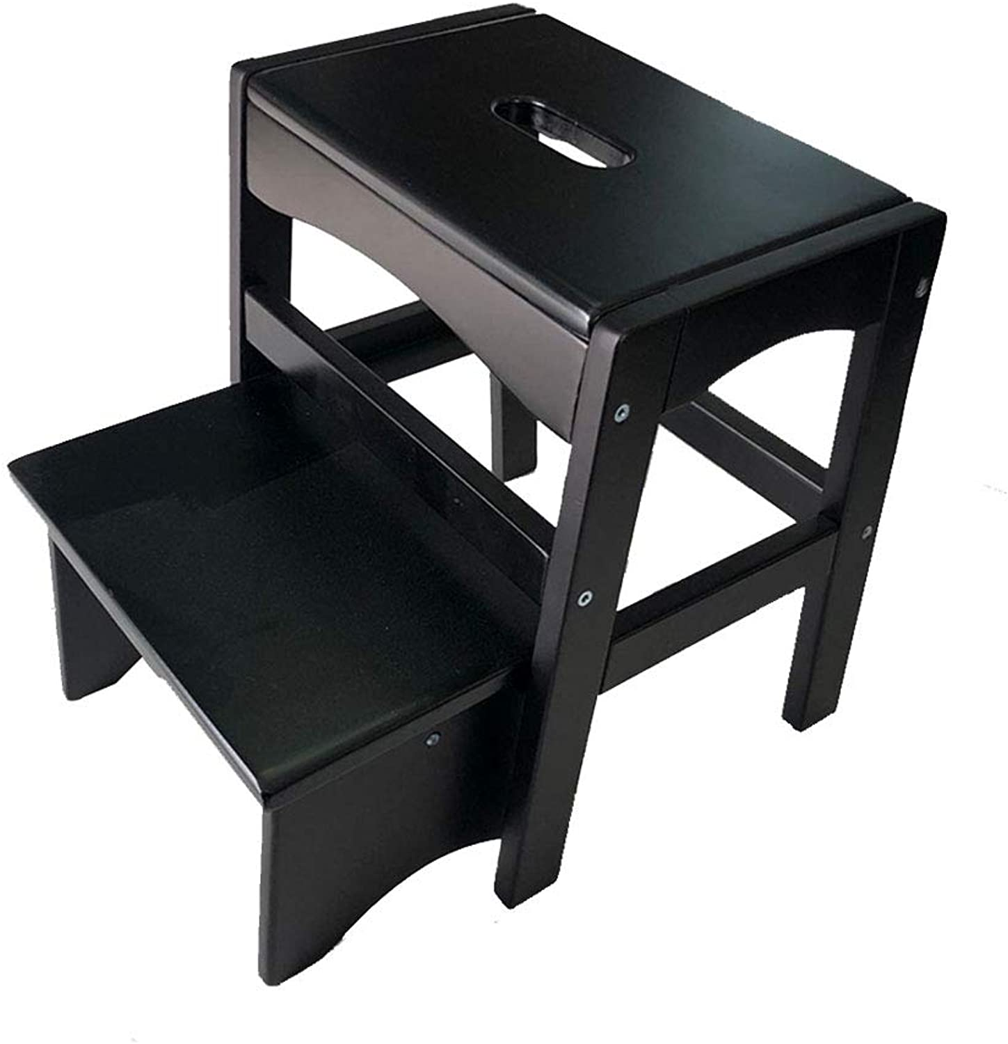 Ladder Stool Heighten Scalable Solid Wood Small Stool Change shoes Ascending Stool