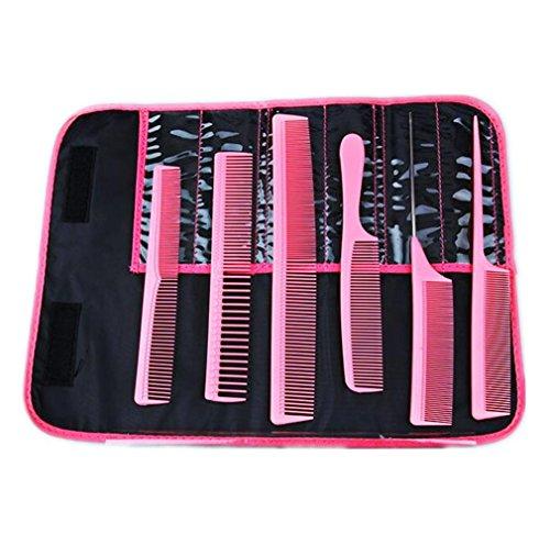 MFFACAI Peigne à Cheveux Peigne en Plastique Peigne coiffant 6 Pack Peigne + Sac, Pink
