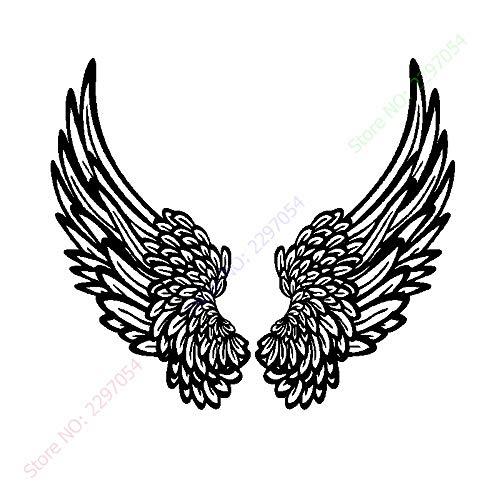 Nueva etiqueta de la pared de vinilo gran ángel dios guardián pájaro sueño mosca plumas alas dormitorio niños sala de estar decoración del hogar tatuajes de pared arte mural cartel