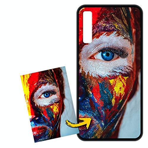 FarmyGadget Cover Case Custodia Personalizzata Morbida Soft TPU - Personalizzabile con Foto, Immagine, Testo, Loghi per Samsung A7 2018 (SM-A750)