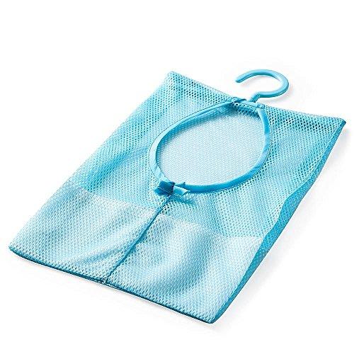 HuntGold semi-closed Aufhängen Netzstoff-Halterung Wäscheklammer Korb Tasche Küche Badezimmer Aufbewahrung Organizier blau