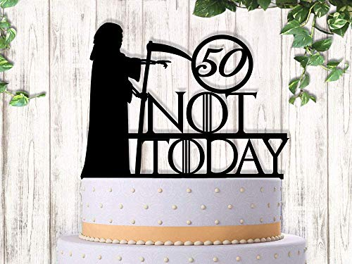 Grim Reaper Not Today Funny GoT Fans Winter is Coming Birthday Cake Topper
