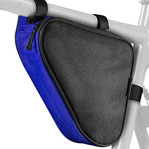 bozitian Bolsa triangular impermeable para bicicleta – Bolsa para cuadro de bicicleta ideal para candado de bicicleta, herramientas, chaqueta de lluvia – Bolsa para marco de bicicleta