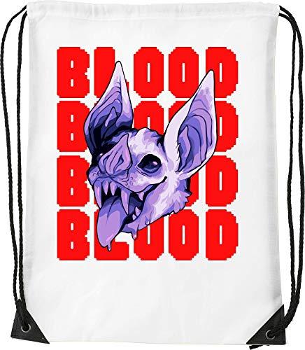 Vampire Blood Sucking Bat Funny Graphic Bolsa con cordón Saco Senderismo Gimnasio