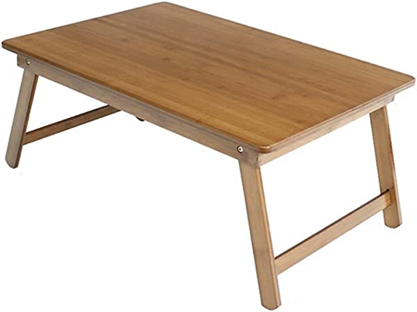 Bamboo Small Coffee Table Children S Study Table Laptop Table Breakfast Table Writing Desk Foldable Small Table Color Wood Color Size 80x40x35cm