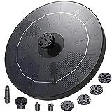 Fuente Solar para Estanque, AISITIN 2.5W Bomba de Agua Solar, Solar Fuente...
