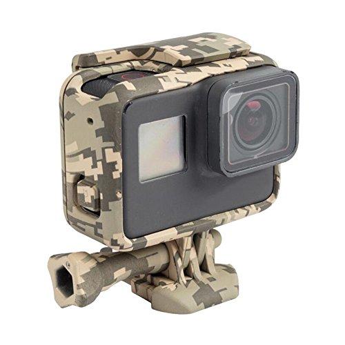 Deylaying Border Carcasa para GoPro Hero 6/Hero 5 Black Action Cámara, Montura Marco Protector Funda de Carcasa Camouflage (Color Gris)