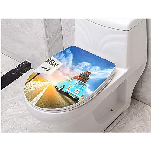 Toiletbril universeel compatibel toiletbril met zachte sluiting verstelbaar scharnier Quick Release Top gemonteerde toiletbril voor V/U/O vormgegeven toilet