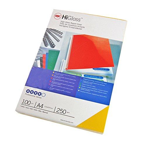 GBC CE020071 - Caja de 100 portadas, A4, 250 g, color blanco