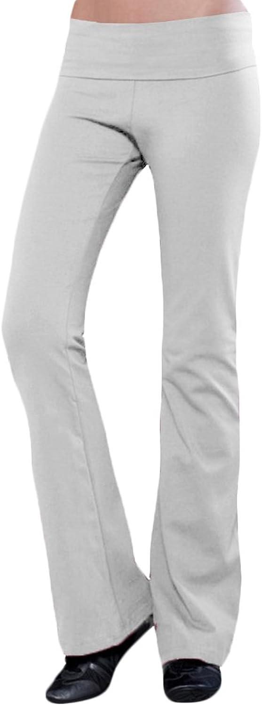 Blanks Women's Cotton Spandex Jersey FoldOver Yoga Pants