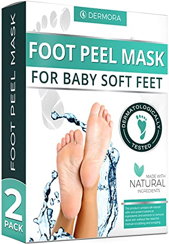 Foot Peel Mask for Cracked Heels, Dead Skin & Calluses Make Your Feet Baby Soft & Get Smooth Silky Skin - Removes & Repairs Rough Heels, Dry Toe Skin - Exfoliating Peeling Natural Treatment