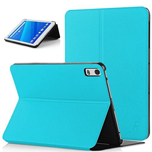 Forefront Cases Lenovo Tab 4 8 Plus/Lenovo Tab4 8 Plus Hülle Schutzhülle Tasche Smart Case Cover Stand - Ultra Dünn Rundum-Geräteschutz - Smart Schlaf Wach (HELL BLAU)