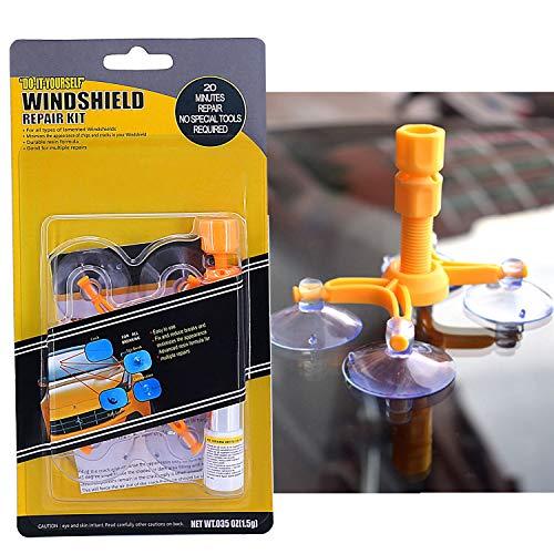 FILBAKE Car Windshield Repair Kit, DIY Car Windshield Repair Kit Quick Fix for Fix Windshield Auto Glass Chips/Cracks/Scratch/Nicks/Half-Moon/Bulls-Eye/Star-Shaped