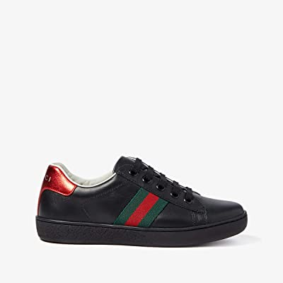 Gucci Kids New Ace Sneakers (Little Kid) (Black) Kids Shoes