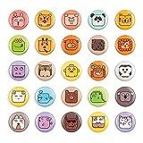 M MORCART 25 imanes para nevera, diseño de cara de animal, imanes pequeños y divertidos para niños, cocina, hogar, escuela, aula, pizarra blanca decorativa (25 caras)