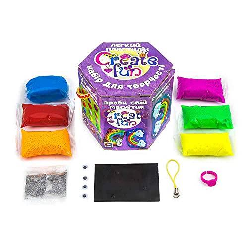 Plastilina modelada 70028 Soft Knete Create Fun Magnet Niños Juguetes idea regalo para niños mayores de 3 años