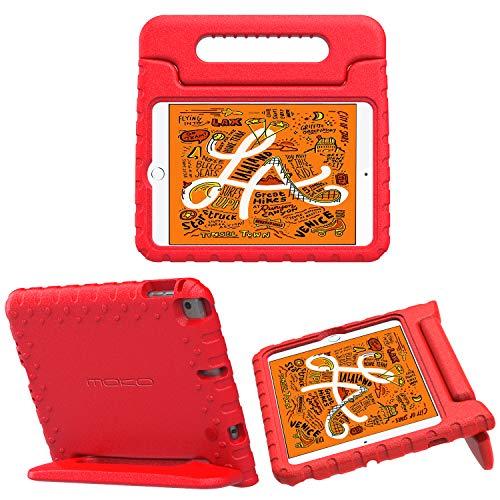 "MoKo Funda Compatible con New iPad Mini 5th Generation 7.9"" 2019/iPad Mini 4 2015, Portátil Prueba de Choques Ligera Kids Protector Compatible conchoque Cover Case - Rojo"